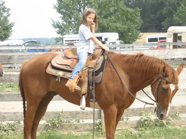 Saddle Sidekicks ridden by Shelby on Mac